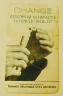 ROMANIA-CIGARETTES  CARD,NOT GOOD SHAPE-0.81 X 0.48 CM - Tabac (objets Liés)
