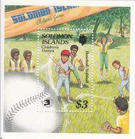 1989 Solomon Islands Children's Games Playing Baseball / Softball  Souvenir Sheet Of 1 MNH - Salomoninseln (Salomonen 1978-...)