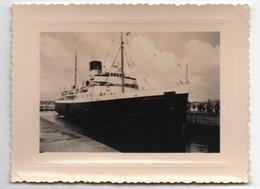 """Bateau Anglais Pour Les Iles Jersey / Paquebot """"BRITTANY""""/ Saint Malo / 1956   MAR75 - Passagiersschepen"""