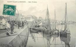 CPA 50 Manche Normandie St Vaast La Hougue Quai Vauban Circulé Edit. Poidevin - Saint Vaast La Hougue