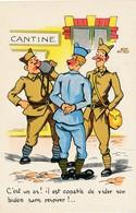 CPA - Themes - Militaria - Humoristiques - C'est Un As! Il Est Capable De Vider Son Bidon Sans Respirer! - Humoristiques