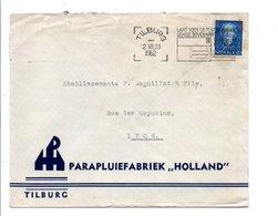 PAYS BAS OBLITERATION MECANIQUE SUR LETTRE POUR LA FRANCE 1952 - Postal History