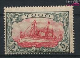 Togo (Dt. Kolonie) 23I A Mit Falz 1919 Schiff Kaiseryacht Hohenzollern (9252866 - Kolonie: Togo