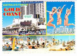 GOLD COAST (Australie, Queensland) La Côte D'Or, Fameuse Australie, Paradise Center, Pin-up, Plage, Ed. ? 1980 Environ - Gold Coast
