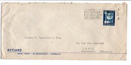 PAYS BAS OBLITERATION MECANIQUE SUR LETTRE POUR LA FRANCE 1950 - Postal History