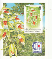 1995 Solomon Islands Orchids Singapore '95 Souvenir Sheet Of 1 MNH - Salomoninseln (Salomonen 1978-...)