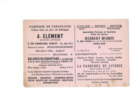Buvard - PUBLCITE Groupée De Magasins à PARIS 13e Et 12e - Parapluies, Chauffage, Sport, Literie - Buvards, Protège-cahiers Illustrés