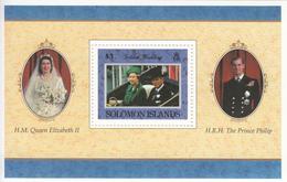 1997 Solomon Islands QEII Golden Wedding Anniv Souvenir Sheet Of 1 - Salomoninseln (Salomonen 1978-...)
