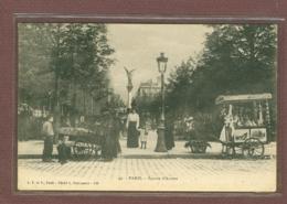 PARIS 9e - SQUARE D'ANVERS - MARCHANDE DES 4 SAISONS ET MARCHAND DE GLACES - EDITION 1900 - District 09