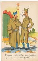 CPA - Themes - Militaria - Humoristiques - D'accord...elle Est Un Peu Grande... - Humoristiques