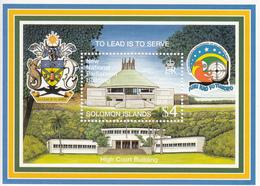1998 Solomon Islands New National Parliament Building 20th Anniv Independence Souvenir Sheet Of 1 MNH - Solomon Islands (1978-...)