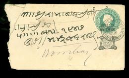 BRIEFOMSLAG GWALIOR STATE * 1891 ENVELOPE Van BHILWARA VIA BOMBAY GANGAPUR (11.453u) - Gwalior