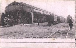 FR66 PERPIGNAN - Fau émail 119 - Gare Intérieure - Départ D'un Train - Animée - Pas Courante - Perpignan