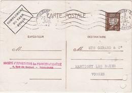 Carte Commerciale 1942 / Entier Pétain 80 C + Complément Taxe Perçu / Sté Import Produits D' Algérie / 31 Toulouse - Maps