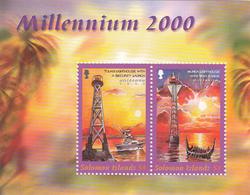 2000 Solomon Islands Millennium Lighthouse & Security Boat Souvenir Sheet Of 2 MNH - Salomoninseln (Salomonen 1978-...)