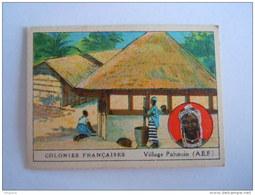 Colonies Françaises Afrique Format 7 X 5 Cm  Librairie D'éducation Nationale Paris Village Pahouin (A.E.F.) - Otros