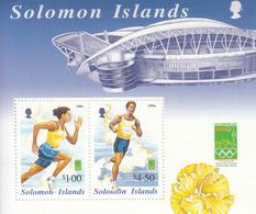 2000 Solomon Islands Sydney Olympics Runners Souvenir Sheet Of 2 MNH - Salomoninseln (Salomonen 1978-...)