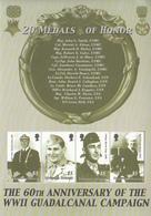 2002 Solomon Islands 60th Anniv Battle Of Guadalcanal Souvenir Sheet Of 4 MNH - Islas Salomón (1978-...)