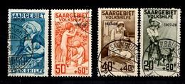 Sarre YT N° 121/124 Oblitérés. B/TB. A Saisir! - Used Stamps