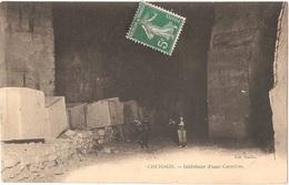 Dépt 89 - COURSON-LES-CARRIÈRES - Intérieur D'une Carrière - (pierres) - Courson-les-Carrières