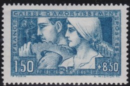 France  .    Yvert    .     252c  Bleu-vert I  ( 2 Scans )   .     *   .     Neuf Avec Charniere  .   /   .  Mint-hinged - France