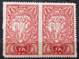 LITTLE ANGEL-1 K-PAIR-ERROR -K--DOT-SHS-CROATIA-YUGOSLAVIA-1919 - Ungebraucht