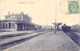 - Dpts Div.-ref-AE170- Eure - Louviers - La Gare - Gares - Train - Trains - Ligne De Chemin De Fer - Carte Bon Etat - - Louviers