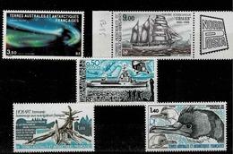 Lot De 5 Timbres Neufs Sans Charnière Entre Les N° PA  781 Et 85 Et  TP Ordinaires 75,77 Et 78 - Franse Zuidelijke En Antarctische Gebieden (TAAF)