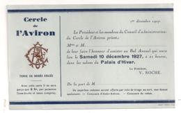1927 INVITATION DU CERCLE DE L'AVIRON DE PARIS   B514 - Aviron