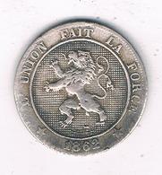 5 CENTIMES 1862  BELGIE /7520/ - 1831-1865: Léopold I