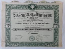 Blanchisserie Et Teinturerie De CAUDRY 1922    NORD CAMBRESIS - Autres