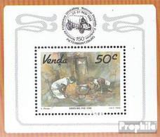 Südafrika - Venda Block4 (kompl.Ausg.) Postfrisch 1988 Kunst - Venda
