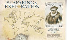 2009 Solomon Islands Seafaring & Exploration Alvaro De Mendana De Neira Souvenir Sheet Of 1 MNH - Salomoninseln (Salomonen 1978-...)