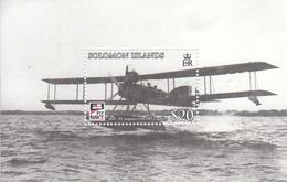 2009 Solomon Islands Centenary Of Naval Aviation Float Plane Souvenir Sheet Of 1 MNH - Salomoninseln (Salomonen 1978-...)