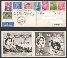 MAURITIUS  Cyclone CAROL  22 Mars 1960 - Remerciements Des Mauriciens Aux Français ( Appel Europe 1) - Maurice (1968-...)