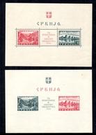 Serbie Occupation Allemande Blocs-feuillets YT N° 1 Et N° 2 Neufs *. B/TB. A Saisir! - Occupation 1938-45