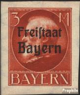 Bayern 167B Postfrisch 1920 König Ludwig Mit Aufdruck - Bayern (Baviera)