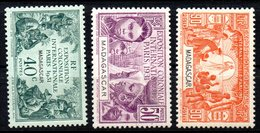 Col10    Madagascar  N° 179 à 181 Neuf X MH Cote : 10,00 Euro Cote 2015 - Neufs