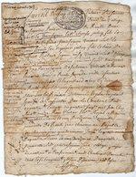 VP13.273 - Cachet Généralité De LIMOGES - Acte De 1703 - RUELLE SUR TOUVRE à Déchiffrer - Seals Of Generality