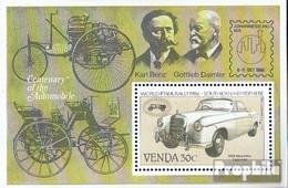 Südafrika - Venda Block2 (kompl.Ausg.) Postfrisch 1986 Autoveteranen-Rallye - Venda