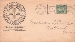 USA - DECORATIVE BUSINESS LETTER 1900 PHILADELPHIA - PORTLAND - Briefe U. Dokumente