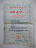 ELECTRICITE De FRANCE 6% 1957 - Autres