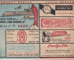 PORTUGAL - GUIA GERAL DE CAMINHOS DE FERRO, CAMIONAGEM E AVIAÇÃO - ABRIL DE 1957 - 50 PÁGINAS - Europe