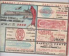 PORTUGAL - GUIA GERAL DE CAMINHOS DE FERRO, CAMIONAGEM E AVIAÇÃO - JANEIRO  DE 1957 - 50 PÁGINAS - Europe