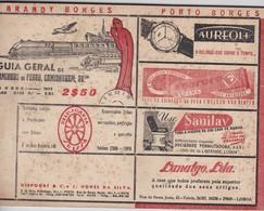 PORTUGAL - GUIA GERAL DE CAMINHOS DE FERRO, CAMIONAGEM E AVIAÇÃO - JUNHO  DE 1957 - 50 PÁGINAS - Europe