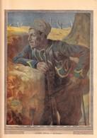 Rare Image Gravure De Lucien Jonas Le Guetteur Sur Feuille épaisse Format 23 X 32 Cm - 1914-18