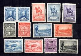 Australie Belle Petite Collection De Bonnes Valeurs Neufs * 1930/1936. B/TB. A Saisir! - Australie