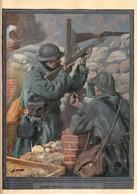 Rare Image Gravure De Lucien Jonas Le Soldat Français De 1916 Sur Feuille épaisse Format 23 X 32 Cm - 1914-18