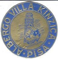 ETIQUETA DE HOTEL  - ALBERGO VILLA KINZICA  .PISA  .ITALIA - Hotel Labels
