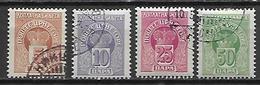 MONTENEGRO    -    Timbres - Taxe   -   1907.    Y&T N° 20 à 23 Oblitérés .  Série Complète - Montenegro